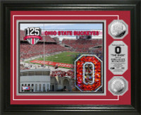 *The Ohio State Buckeyes 125th Anniversary Commemorative Silver Coin Photo Mint