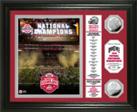 *Ohio State Buckeyes 2014 College Football National Champions Banner Silver Coin Photo Mint