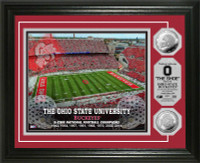*Ohio State Buckeyes 8-Time National Champions Silver Coin Photo Mint