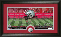Ohio State Buckeyes 8-time Football National Champions Minted Coin Panoramic Photo Mint