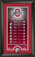 Ohio State Buckeyes 8-Time National Champions Legacy Silver Coin Panoramic Photo Mint LE 5,000