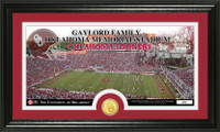 University of Oklahoma Stadium Bronze Coin Panoramic Photo Mint