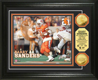 Barry Sanders Oklahoma State Gold Coin Photo Mint