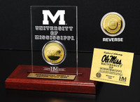 Ole Miss Rebels 24KT Gold Coin Etched Acrylic