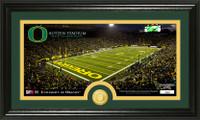 University of Oregon Stadium Bronze Coin Panoramic Photo Mint