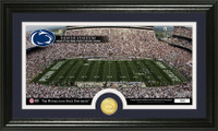 Penn State Stadium Bronze Coin Panoramic Photo Mint