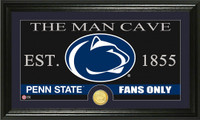 Penn State Man Cave Bronze Coin Panoramic Photo Mint