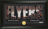 Philadelphia Flyers Silhouette Bronze Coin Panoramic Photo Mint