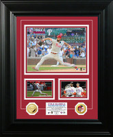 Cole Hamels No Hitter' Marquee Gold Coin Photo Mint