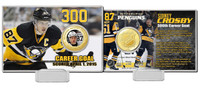 Sidney Crosby 300 Career Goals Bronze Color Coin Card