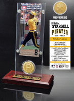 Willie Stargell Hall of Fame Ticket & Bronze Coin Acrylic Desk Top