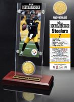Ben Roethlisberger Ticket & Bronze Coin Acrylic Desk Top