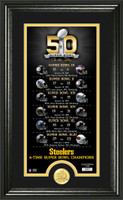 *Pittsburgh Steelers Super Bowl 50th Anniversary Bronze Coin Supreme Photo Mint