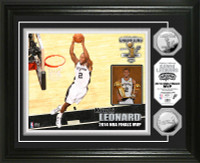 San Antonio Spurs 2014 NBA Finals MVP Silver Coin Photo Mint