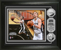 Manu Ginobili Silver Coin Photo Mint