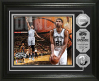 Tim Duncan Silver Coin Photo Mint