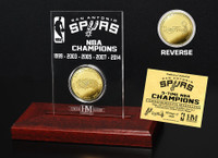San Antonio Spurs Five Time NBA Champs Mint Coin