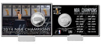 San Antonio Spurs 2014 NBA Champions Banner Raising Silver Coin Card
