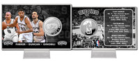 San Antonio Spurs Big 3 Silver Coin Card