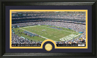 San Diego Chargers Stadium Bronze Coin Panoramic Photo Mint