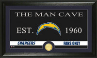 San Diego Chargers Man Cave Bronze Coin Panoramic Photo Mint