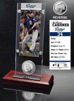 Andrew Cashner Ticket & Minted Coin Acrylic Desk Top