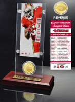 Levi's Stadium Inaugural Game Ticket and Bronze Coin Display