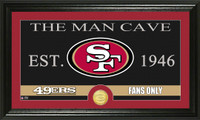 San Francisco 49ers The Man Cave Bronze Coin Panoramic Photo Mint
