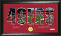 San Francisco 49ers Silhouette Bronze Coin Panoramic Photo Mint