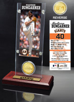 Madison Bumgarner Ticket & Bronze Coin Acrylic Desk Top