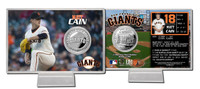 Matt Cain Silver Coin Card