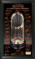 San Francisco Giants 2014 World Series Champions Trophy Signature Photo
