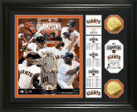 San Francisco Giants 2014 World Series Champions Banner Gold Coin Photo Mint