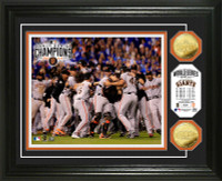 San Francisco Giants 2014 World Series Champions Celebration Gold Coin Photo Mint
