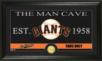 San Francisco Giants The Man Cave Bronze Coin Panoramic Photo Mint