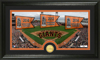 San Francisco Giants Traditions Bronze Coin Panoramic Photo Mint