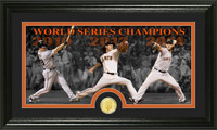 San Francisco Giants 3-time World Series Champions Player Bronze Coin Panoramic Photo Mint