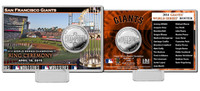 San Francisco Giants 2014 World Series Champions Ring Ceremony Silver Coin Card