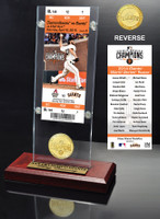San Francisco Giants 2014 World Series Champions Ring Ceremony Ticket & Bronze Coin Acrylic Desk Top
