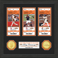 San Francisco Giants 3-time World Series Champions Ring Ceremony Ticket Collection