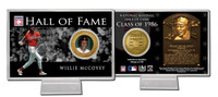 Willie McCovey Hall of Fame Coin Card