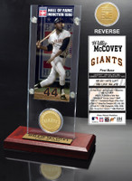 Willie McCovey Hall of Fame Ticket & Bronze Coin Acrylic Desk Top