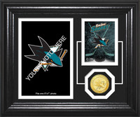 San Jose Sharks Fan Memories Bronze Coin Desktop Photo Mint