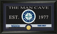 Seattle Mariners The Man Cave Bronze Coin Panoramic Photo Mint