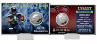 Marshawn Lynch Silver Coin Card
