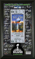 Seattle Seahawks Super Bowl 48 Signature Ticket