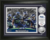 Seattle Seahawks Legion of Boom Silver Coin Photo Mint