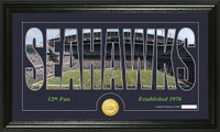 Seattle Seahawks Silhouette Bronze Coin Panoramic Photo Mint