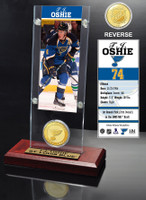 T.J. Oshie Ticket and Bronze Coin Desktop Acrylic