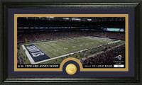 Los Angeles Rams Stadium Bronze Coin Panoramic Photo Mint